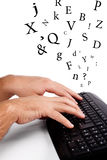 Keyboarding Stock Photo