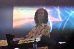 Keyboardist playing live Stock Images