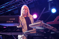 The keyboardist Rick Wakemann of Yes group Royalty Free Stock Photos