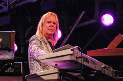 The keyboardist Rick Wakemann of Yes group Royalty Free Stock Photography