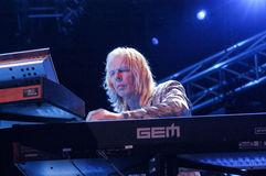 The keyboardist Rick Wakemann of Yes group Stock Image