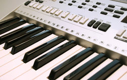Keyboards. Part of professional keyboards,closeup picture Royalty Free Stock Images
