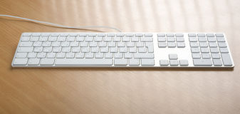 Keyboards. Modern aluminum computer keyboards for computer Stock Photography