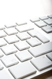 Keyboards. Modern aluminum computer keyboards for computer Stock Image