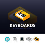 Keyboards icon in different style Royalty Free Stock Image