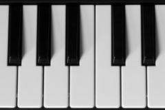 Keyboards photography bllack and white royalty free stock photos