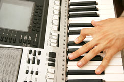 Keyboards player royalty free stock photo