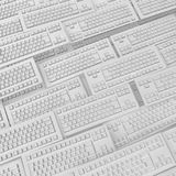 Keyboards White Royalty Free Stock Photo