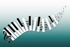 Keybord engraçado da música do vetor Foto de Stock