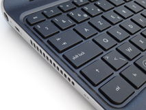Close-up of Computer Keyboard on white background. Royalty Free Stock Photos