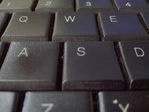 Keybord noir de lettre imprimée par imprimante d'ordinateur de beauté Photo libre de droits