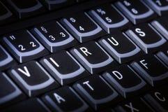 Keybord Virus Royalty Free Stock Photography