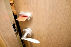 Keycard door Royalty Free Stock Photo
