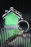 Keychain και κλειδί Στοκ Φωτογραφία