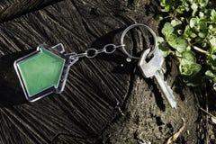 Keychain σε μια μορφή του σπιτιού Στοκ Φωτογραφία