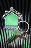 Keychain и ключ Стоковая Фотография