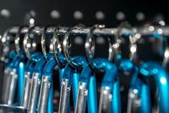 Keychain кольца нержавеющей стали Стоковое Изображение RF