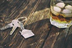 房子Keychain形象有钥匙的 库存图片