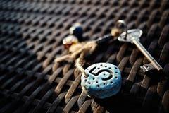 Keychain autentico con il simbolo di numero di stanza Fotografia Stock