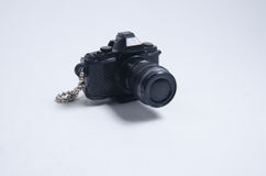 Key chain camera. Keychain camera black cute toy accessories Royalty Free Stock Photo