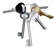 Keychain com chaves Imagens de Stock