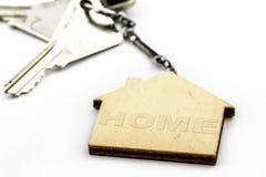 Keychain di forma della Camera con le chiavi Fotografia Stock