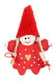 Keychain di plastica rosso della bambola Fotografie Stock Libere da Diritti