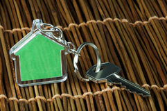 Keychain e chave Imagem de Stock Royalty Free