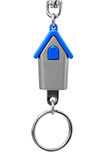 Keychain with figure of blue house Stock Images