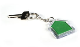 Keychain with figure of house Royalty Free Stock Photography