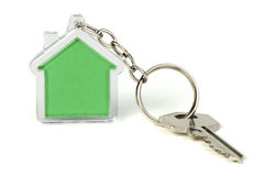 Keychain with figure of house Royalty Free Stock Image