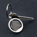 Keychain figure of house and key Royalty Free Stock Photo