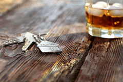 Keychain figure of house with keys Royalty Free Stock Photo