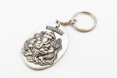 Keychain Ganesh odizolowywał Zdjęcia Royalty Free