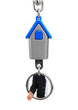 Keychain with hands of the estate agent Stock Photos