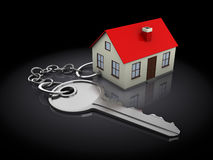 Keychain with house Stock Photo