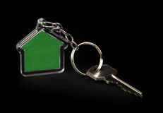 Keychain and key Royalty Free Stock Images