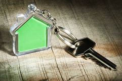 Keychain and key Royalty Free Stock Photography