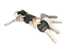 Keychain with keys  Royalty Free Stock Photos