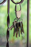 Keychain with keys. Royalty Free Stock Photography