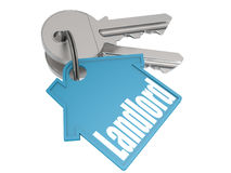 Keychain with landlord word image Stock Photo