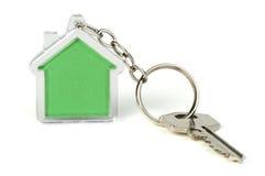 Keychain mit Abbildung des Hauses Lizenzfreies Stockbild