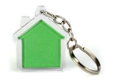 Keychain mit Abbildung des Hauses Stockfotografie