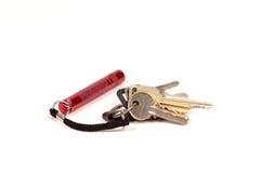 Keychain mit Minitaschenlampe Lizenzfreie Stockfotos
