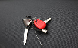 Keychain for motorbike. Ignition, trunk and access Royalty Free Stock Photos