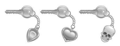 Keychain set Royalty Free Stock Photo