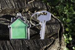 Keychain in a shape of house Stock Images