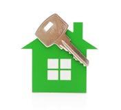 Key chain shaped like a house Stock Photo