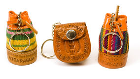 Keychain souvenirs from Nicaragua Stock Photos