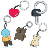 Keychain. Vector set of keychain cartoon Royalty Free Stock Photos